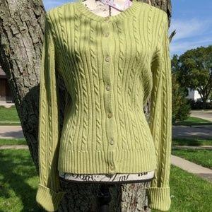 EUC! Casual Corner Annex Sz Lg Cable-knit Sweater